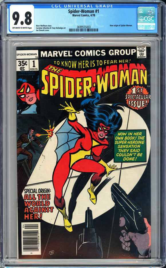 Spider-Woman #1 CGC 9.8 Off-White to White Pages