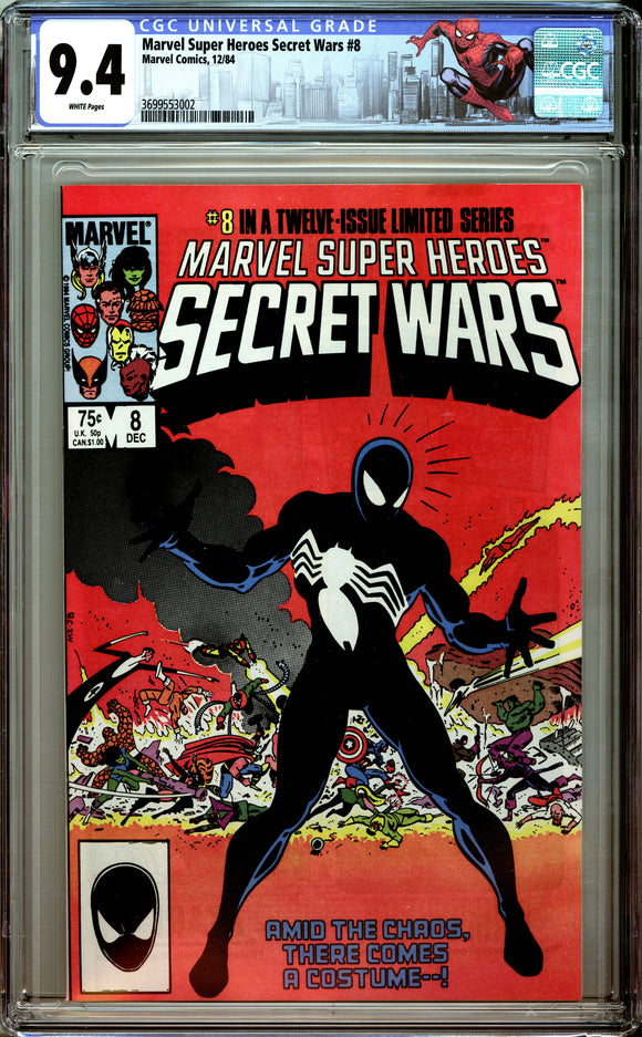 Marvel Super Heroes Secret Wars #8 CGC 9.4 White Pages
