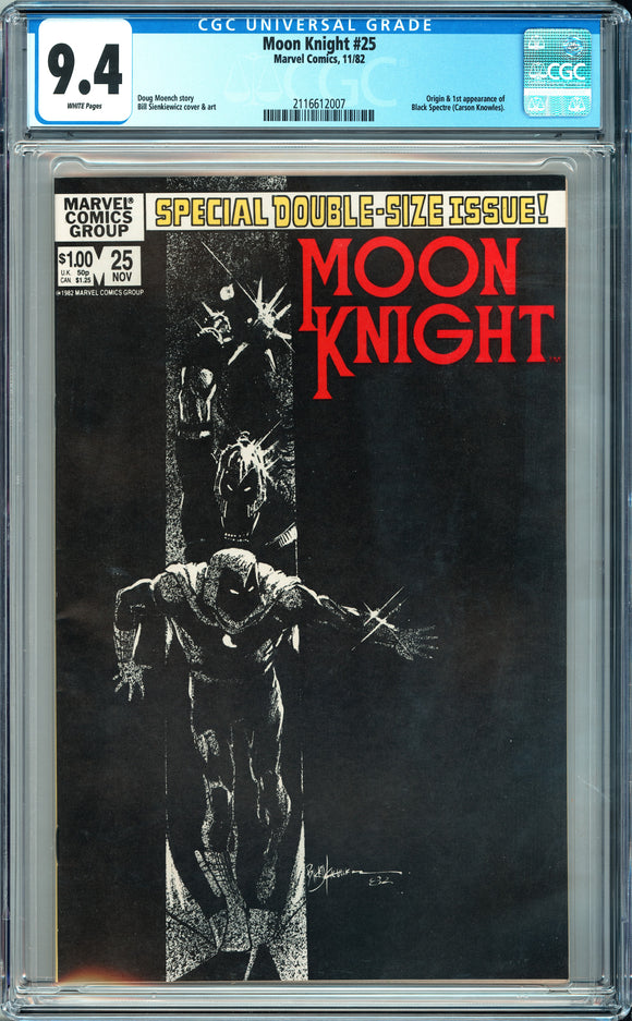 Moon Knight #25 CGC 9.4 White Pages