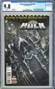 Totally Awesome Hulk #21 CGC 9.8 White Pages