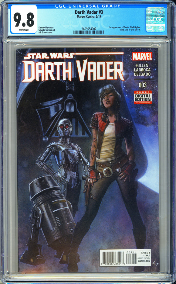 Darth Vader #3 CGC 9.8 White Pages