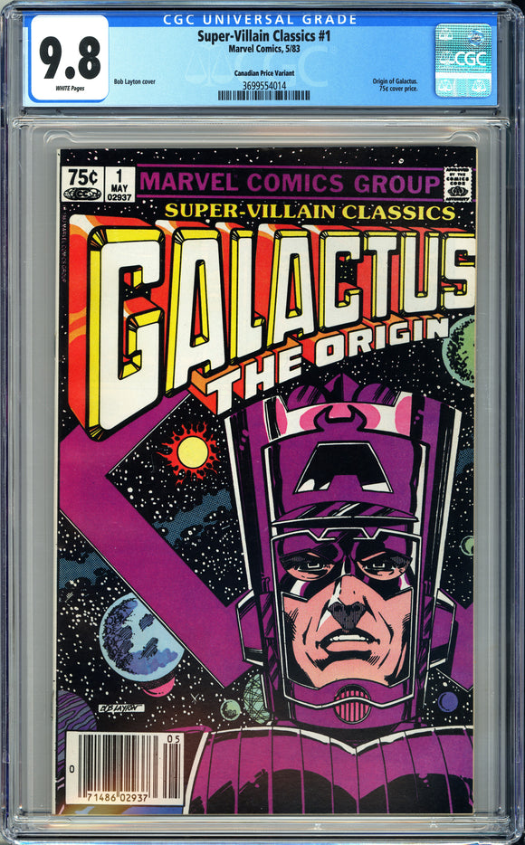 Super-Villain Classics #1 CGC 9.8 White Pages ~Canadian Price Variant~