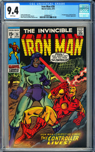 Iron Man #28 CGC 9.4 White Pages