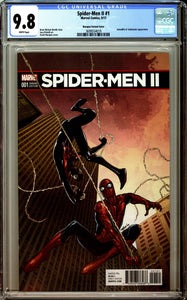 Spider-Men II #1 CGC 9.8 White Pages ~Marquez Variant Cover~