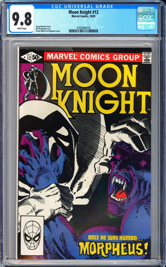 Moon Knight #12 CGC 9.8 White Pages