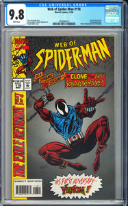 Web of Spider-Man #118 CGC 9.8 White Pages