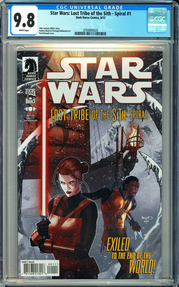 Star Wars: Lost Tribe of the Sith - Spiral #1 CGC 9.8 White Pages