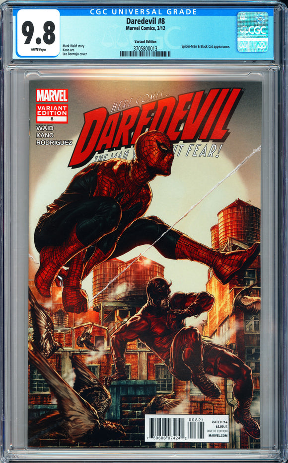 Dare Devil #8 CGC 9.8 White Pages ~Variant Edition~