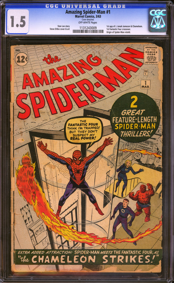 Amazing Spider-Man #1 CGC 1.5 Off-White Pages