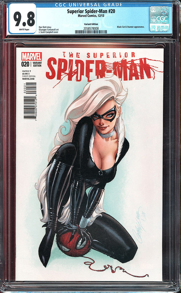 Superior Spider-Man #20 CGC 9.8 White Pages ~Variant Edition~