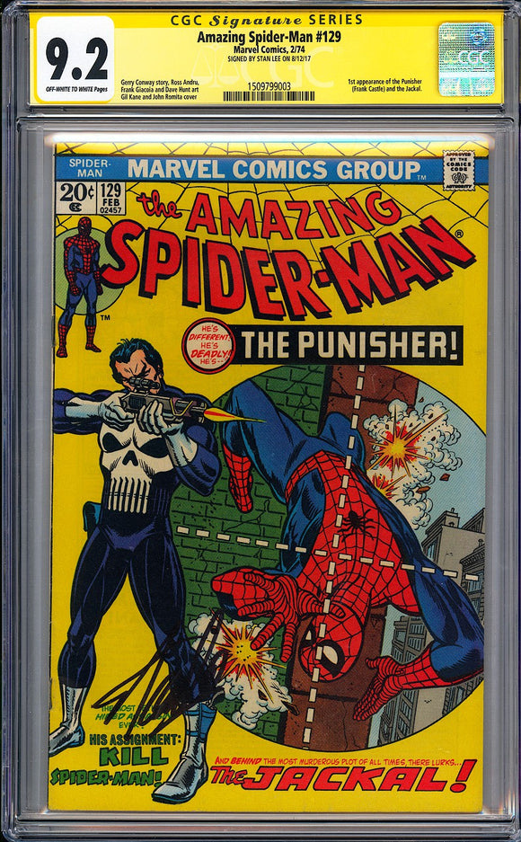 Amazing Spider-Man #129 CGC 9.2 Off-White to White Pages
