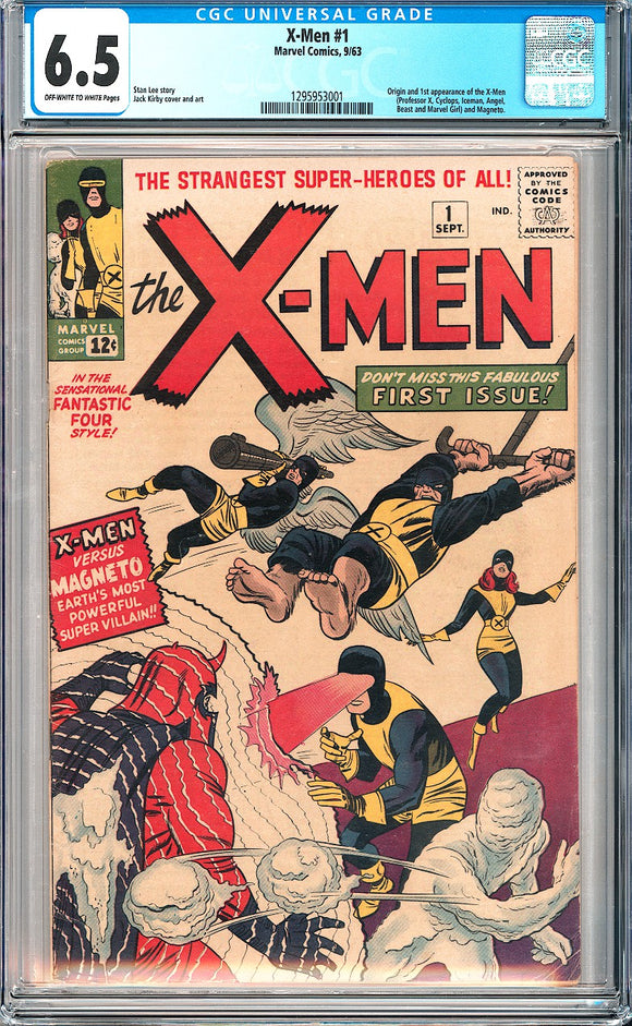 X-Men #1 CGC 6.5 Off-White to White Pages