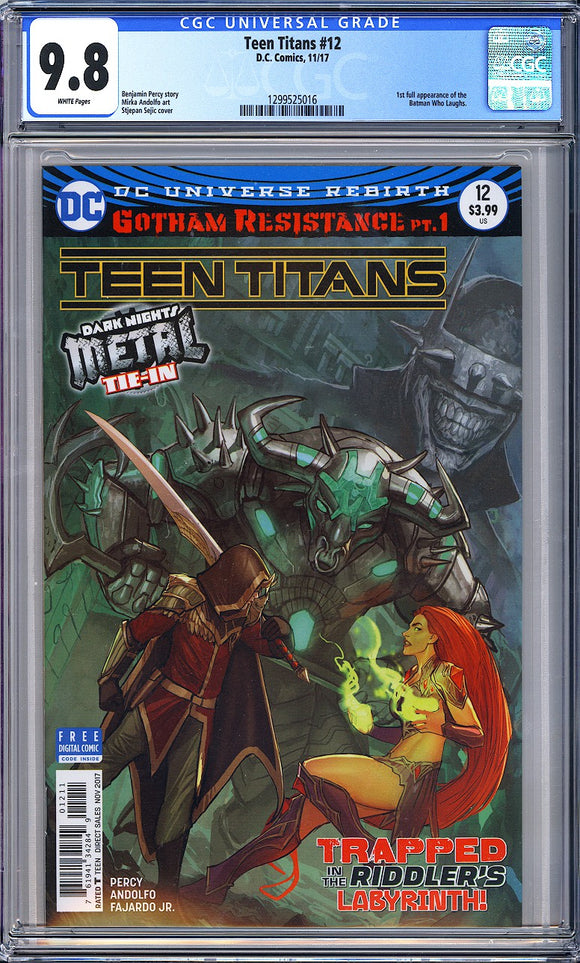 Teen Titans #12 CGC 9.8 White Pages