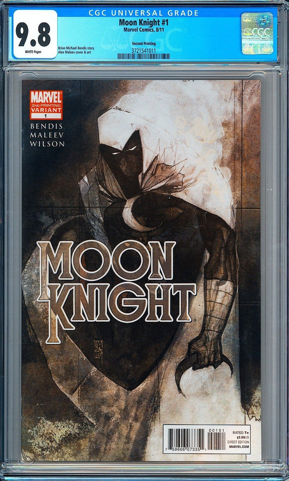Moon Knight #1 CGC 9.8 White Pages ~2nd Printing~