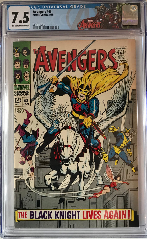 Avengers #48 CGC 7.5 Off-White to white Pages