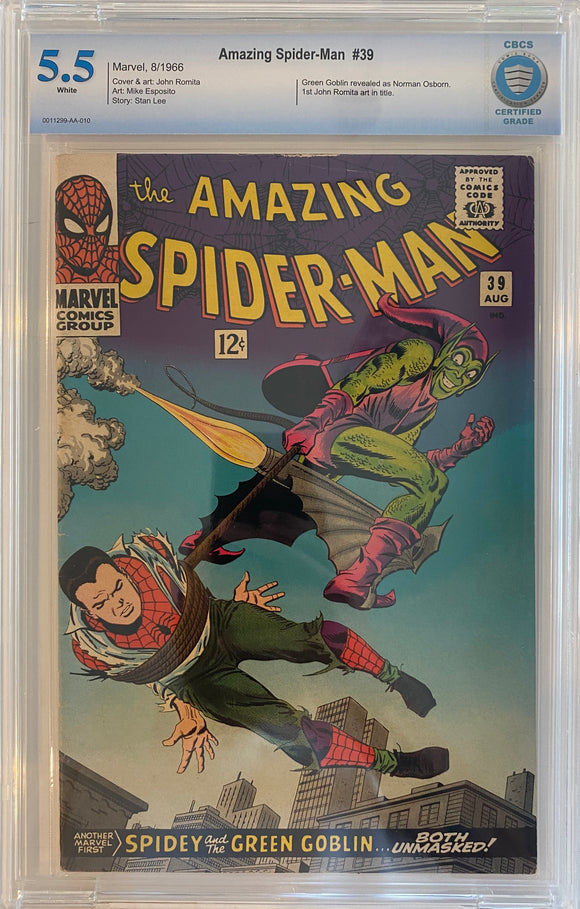 Amazing Spider-Man #39 CBCS 5.5 White Pages