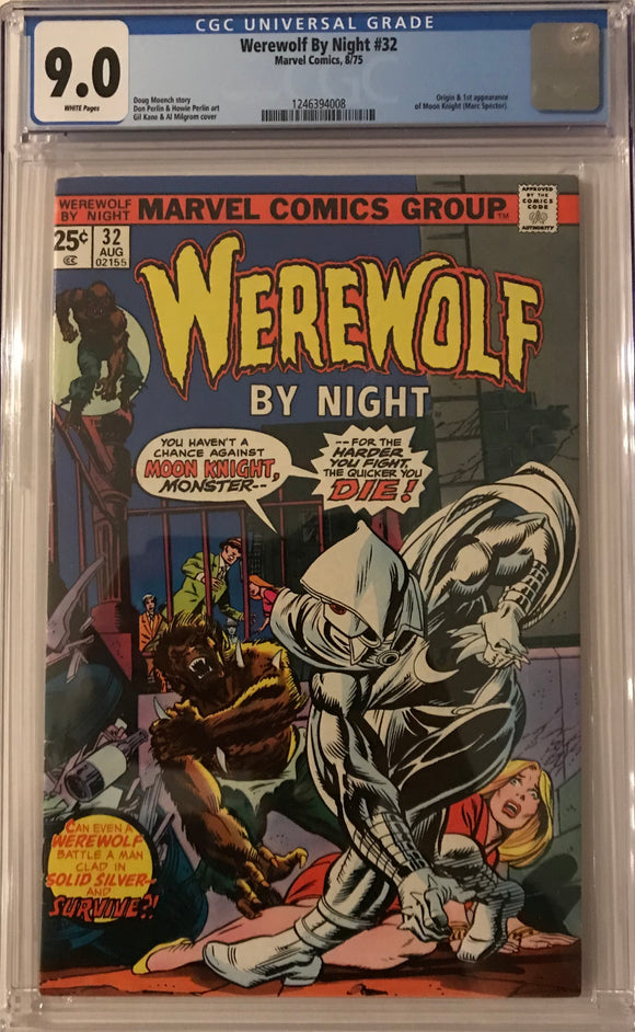Werewolf by Night #32 CGC 9.0 White Pages
