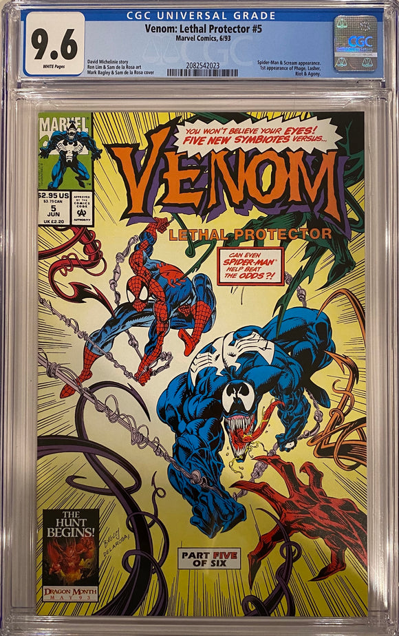 Venom: Lethal Protector #5 CGC 9.6 White Pages