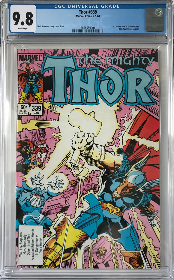 Thor #339 CGC 9.8 White Pages