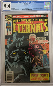 Eternals #1 CGC 9.4 White Pages