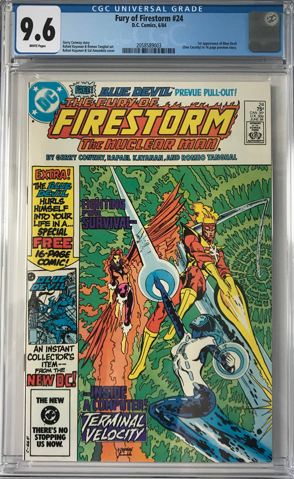 Fury of Firestorm #24 CGC 9.6 White Pages
