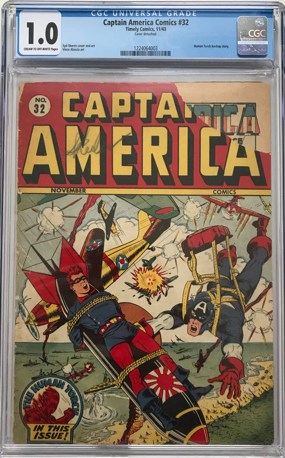 Captain America Comics #32 CGC 1.0 Cream to Off-White Pages