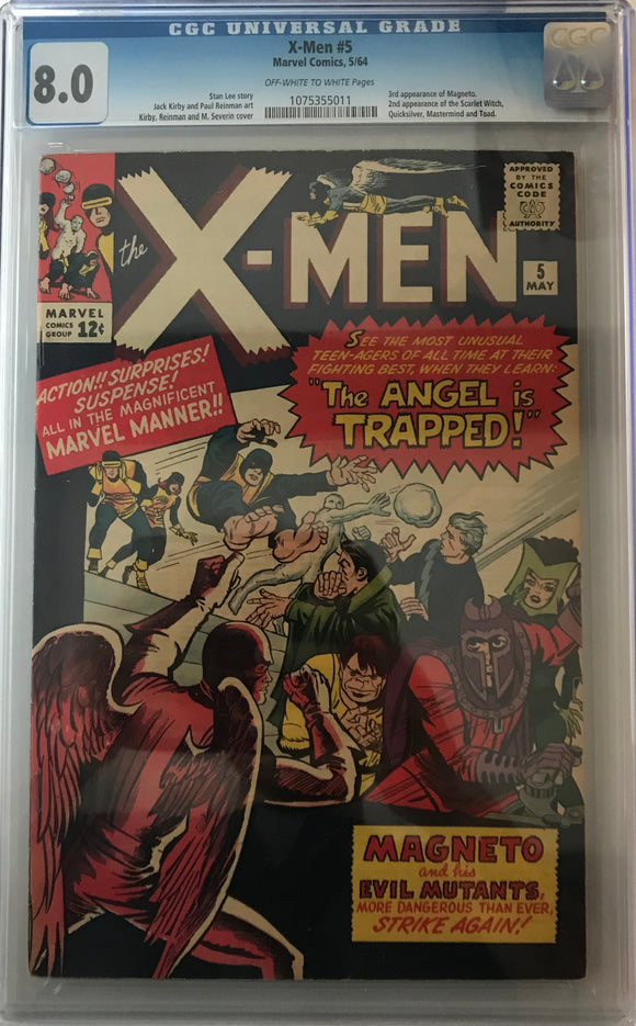 X-Men #5 CGC 8.0 Off-White to White Pages