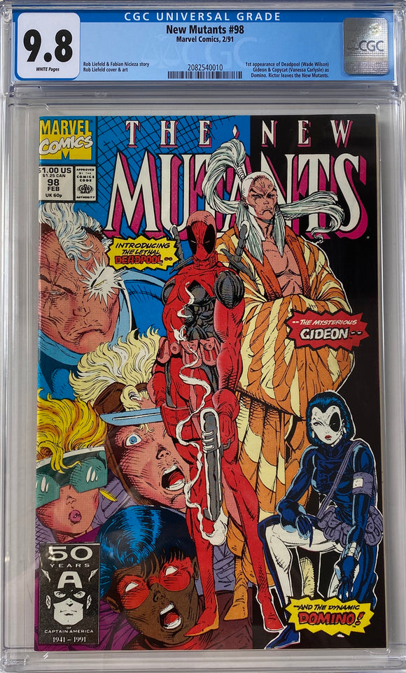 New Mutants #98 CGC 9.8 White Pages