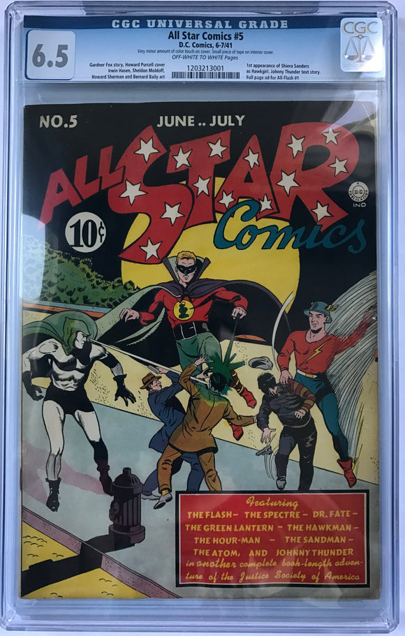 All Star Comics #5 CGC 6.5 Off-White To White Pages