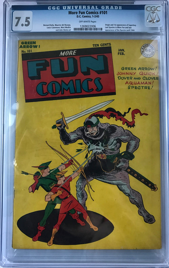 More Fun Comics #101 CGC 7.5 Off-White Pages