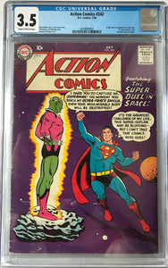 Action Comics #242 CGC 3.5 Slightly Brittle Pages