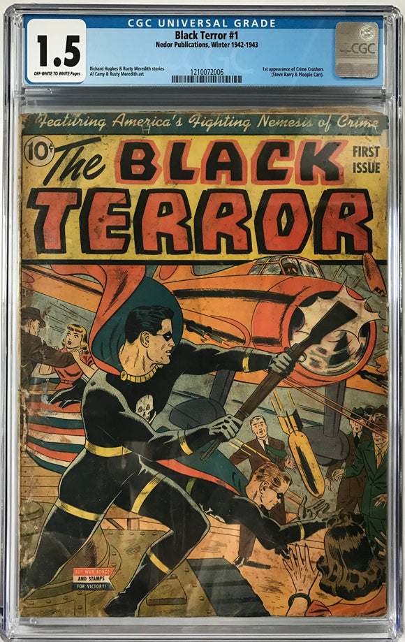 Black Terror #1 CGC 1.5 Off-White To White Pages