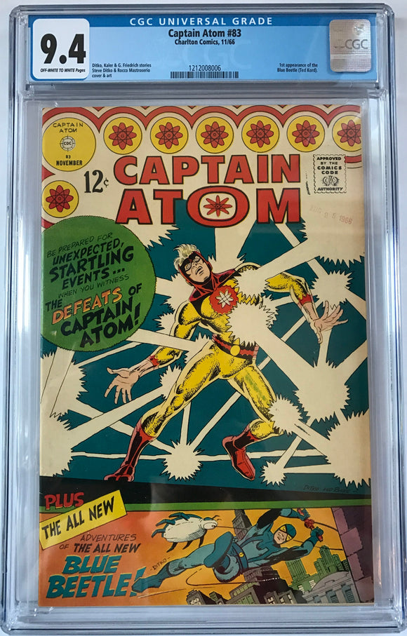 Captain Atom #83 CGC 9.4 Off-White To White Pages