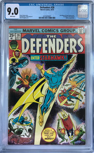 Defenders #28 CGC 9.0 White Pages