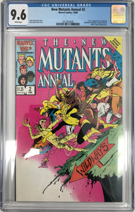 New Mutants Annual #2 CGC 9.6 White Pages