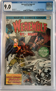 Werewolf By Night #37 CGC 9.0 Off-White To White Pages