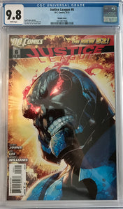 Justice League #6 CGC 9.8 White Pages ~ VARIANT COVER ~