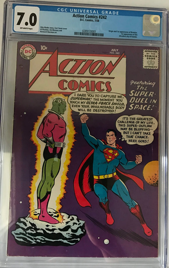 Action Comics #242 CGC 7.0 Off-White Pages