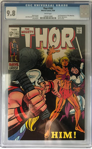 Thor #165 CGC 9.8 White Pages