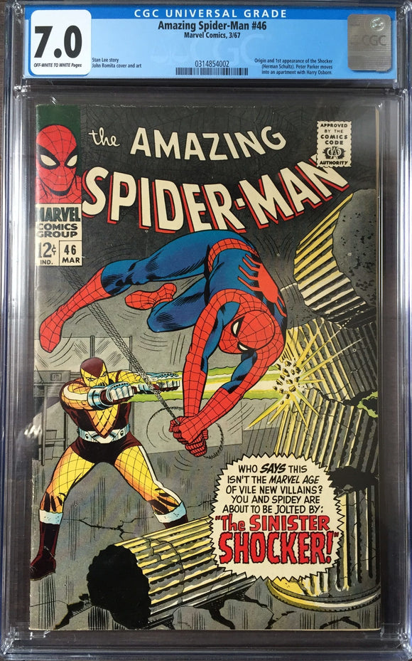 Amazing Spider-Man #46 CGC 7.0 Off-White To White Pages