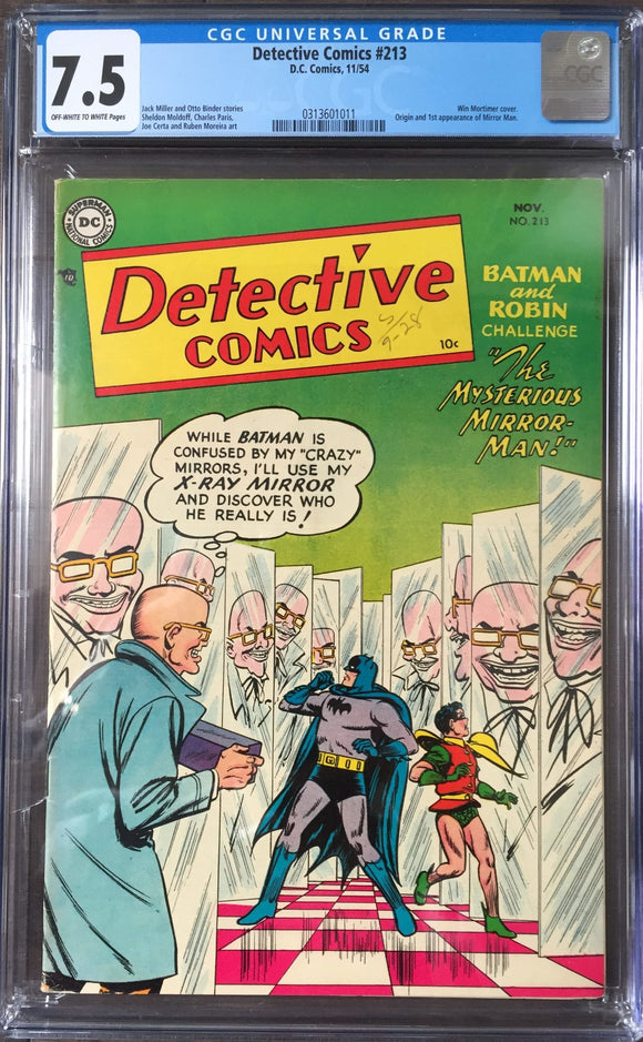 Detective Comics #213 CGC 7.5 Off-White To White Pages