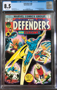 Defenders #28 CGC 8.5 Off-White Pages