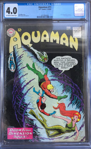 Aquaman #11 CGC 4.0 Off-White To White Pages
