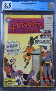 Adventure Comics #260 CGC 3.5 Off-White To White pages