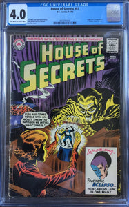 House of Secrets #61 CGC 4.0 Off-White To White Pages