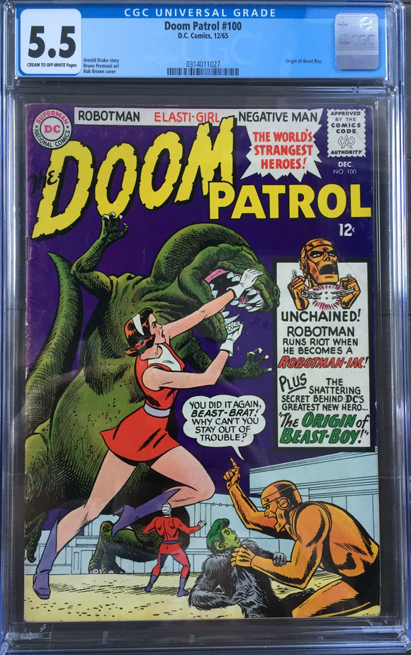 Doom Patrol #100 CGC 5.5 Off-White to White Pages
