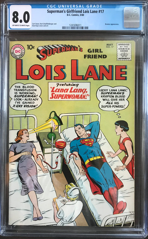 Superman's Girlfriend Lois Lane #17 CGC 8.0 Off-White to White Pages