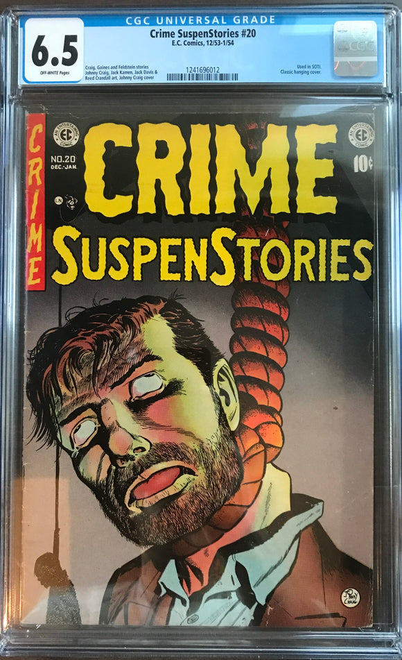 Crime SuspenStories #20 CGC 6.5 Off-White Pages