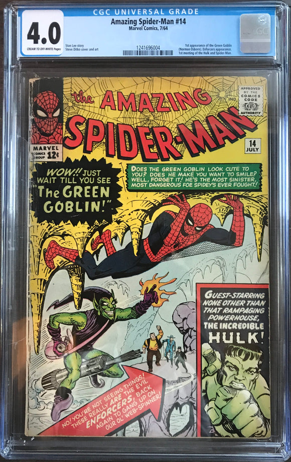 Amazing Spider-Man #14 CGC 4.0 Cream to Off-White Pages