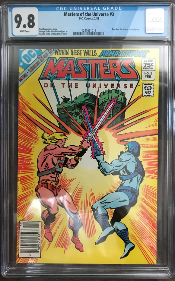 Master of the Universe #3 CGC 9.8 White Pages ~CANADIAN VARIANT~
